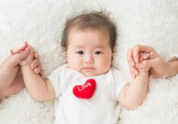 Baby with Red Heart