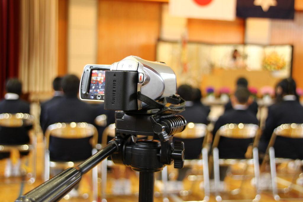 A cam shooting children's ceremony