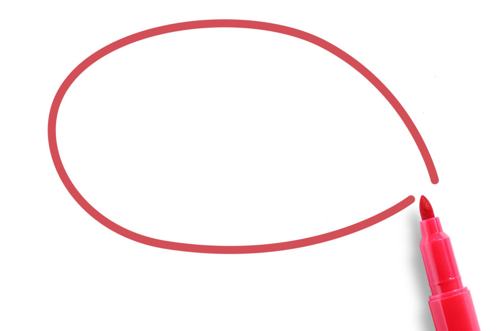 Red marker with blank circle
