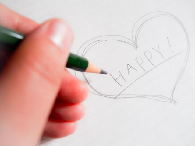 Happy Heart written by pencil