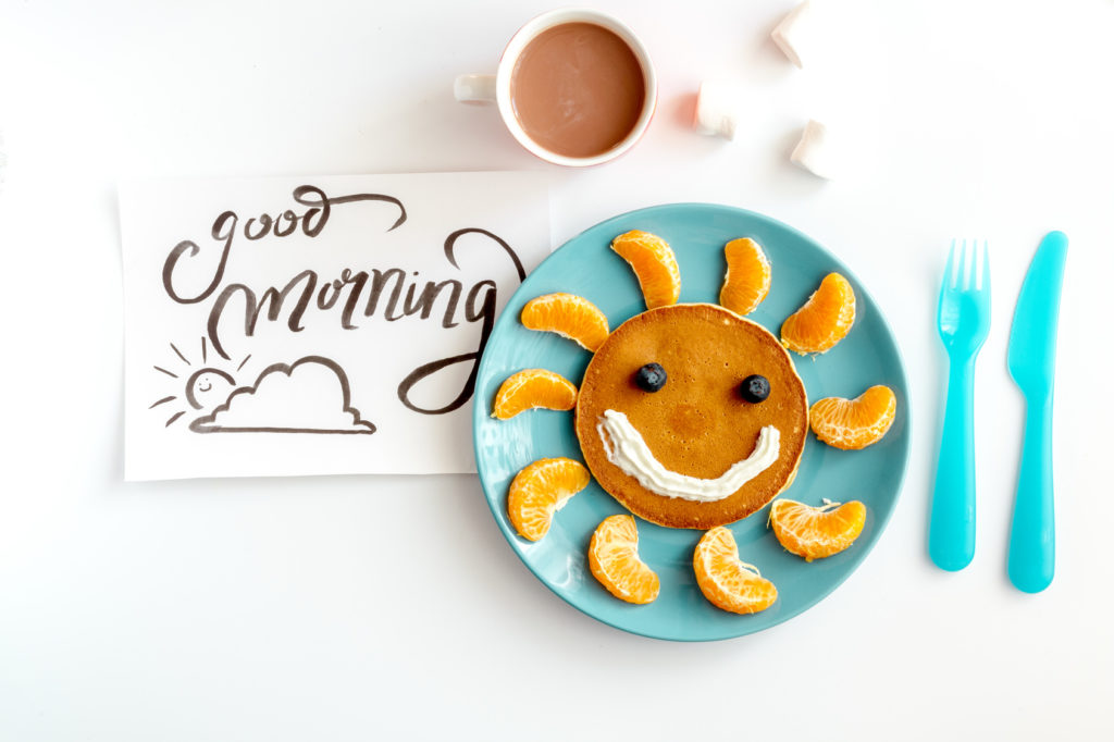 Sunny smile Pancakes with orage