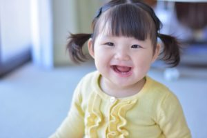 Smile Asian baby