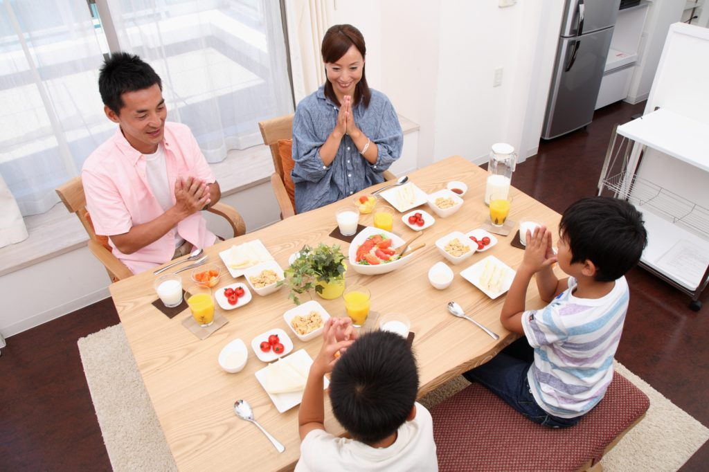 Itadakimasu! Japanese cosutom to the begining of the eating