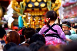 A girl in a Japanese Festival MATSURI