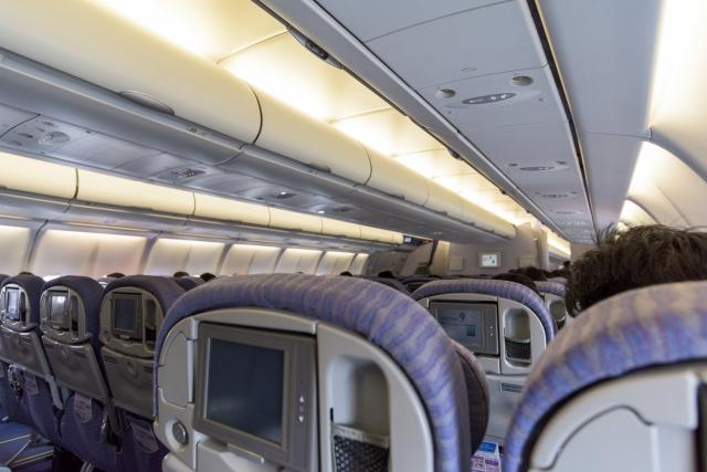 In a air plane