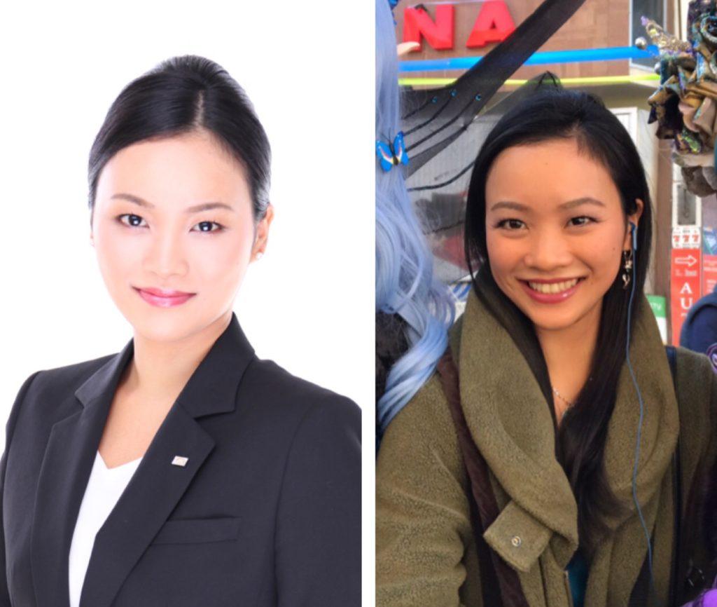 目尻と口角の比較写真を毛呂霞さんのお社sんで検証してください