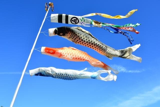 大空をおよぐ鯉のぼり