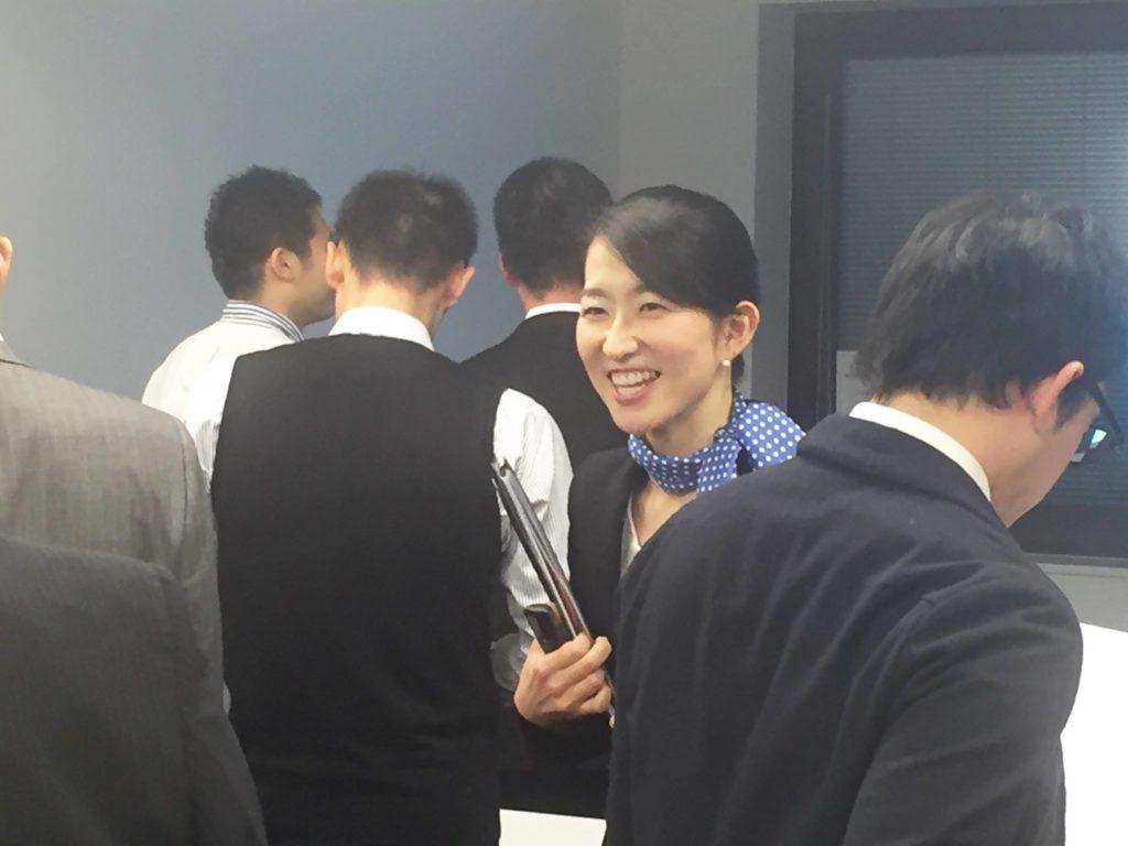 研修する田原講師