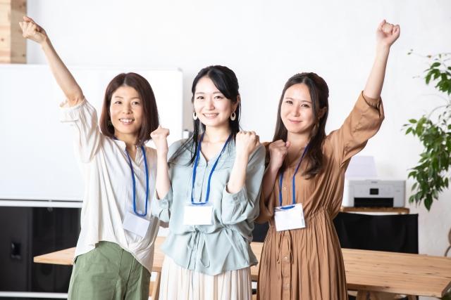 女子の友情楽しそうに微笑む三人組